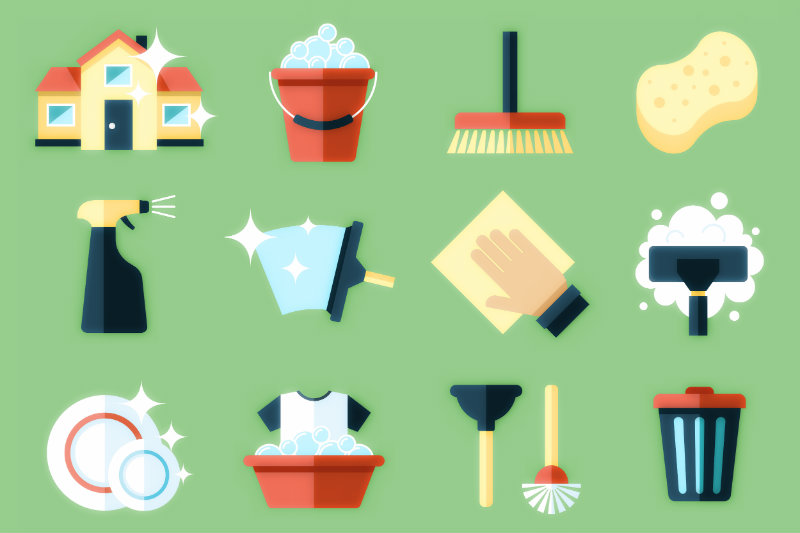 housekeeping supplies and tools
