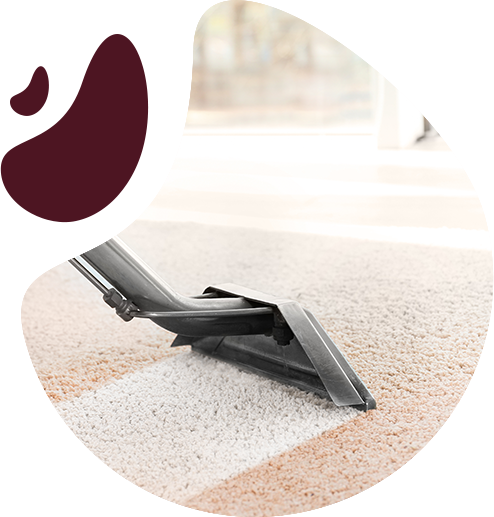 cropped image of vacuum cleaner on carpet