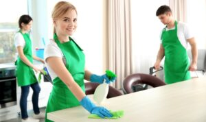 professionals sprucing up a residential property